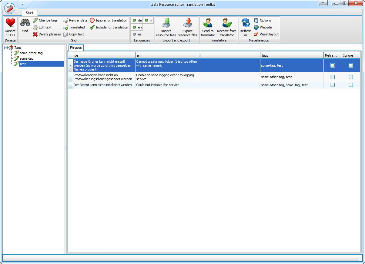 Click to view Zeta Resource Editor 1.0.1.26 screenshot